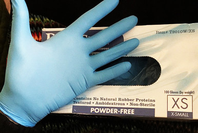 Nitrile Gloves Esthetician, Spa, Skincare, Sugaring, Waxing Glove. XS, S, M, XL. Extra Small Gloves