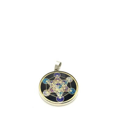 Metatrons Cube Sacred Geometry Necklace.