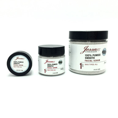 Jessa 100% Pumice Smooth Scrub. Facial Scrub. Gentle Face Scrub. Organic Scrub Professional Skincare Product Line.