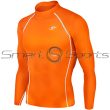 Take 5 Cheap Mens Long Sleeve Compression Top Orange