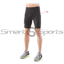 Mens Shorts Compression Knee Pants Black Base Layer Skin Tight Tesla