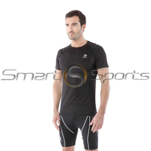 Mens Compression Top Short Sleeve Cool Gear Loose Fit Black Tesla