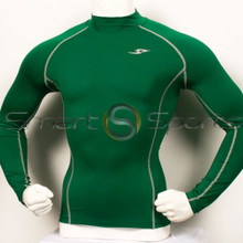Mens Compression Top Long Sleeve Green Take 5