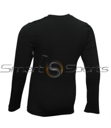 Kids Compression Long Sleeve Top Thermal Lightweight Black Athlete TX