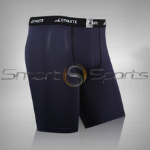 Athlete BX Mens Short Pants Lightweight Compression Shorts Navy