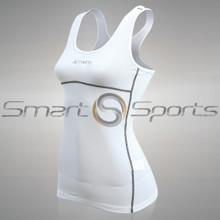 Womens Compression Tank Top White Lightweight Athlete BX