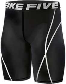 Mens Compression Shorts Base Layer Tights Black Take 5 S-4XL