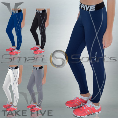 Womens Compression Pants Base Layer Tights Take 5 XS-4XL