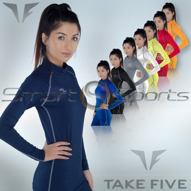 Womens Compression Long Sleeve Top Take 5 XS-4XL