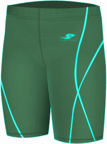 Kids Compression Shorts Base Layer Tights Green Take 5