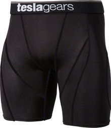 Mens Compression Black Short Pants Gym Workout Fitness Tesla