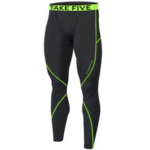 New Mens Compression Pants Base Layer Tights Black Neon Take 5
