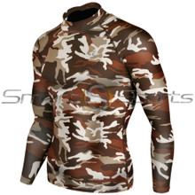 Kids Long Sleeve Compression Top Camo Take 5