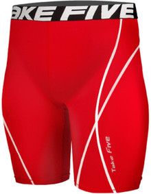 Mens Compression Shorts Base Layer Tights Red Take 5