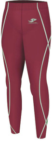 Kids Compression Pants Base Layer Tights Maroon Take 5
