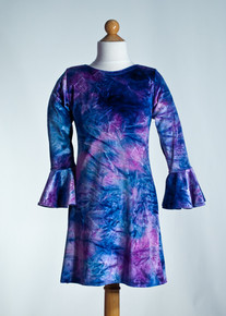 Purple Tie Dye Straight Dress     Matching Doll Dress available