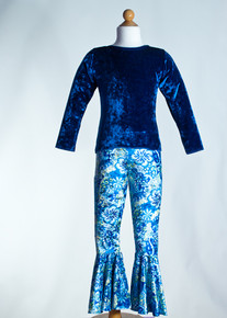 Royal Crew Neck Top & Royal Magic Bell Bottom     Matching Doll Outfit available