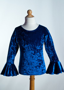 Royal Crew Neck Top Bell Sleeve