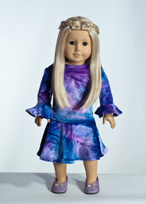 Purple Tie Dye Doll Dress     Matching Girl Dress available
