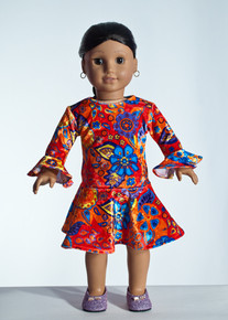 Red Gardi Doll Dress     Matching Girl Dress available
