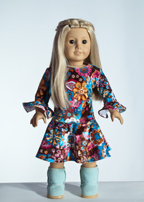 Pink/Brown Gardi Doll Dress     Matching Girl Dress available