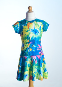 Spring Multi Tie Dye Drop Waist Dress     Matching Doll Dress available