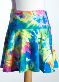 Multi Tie Dye Yoke Skirt     Matching Doll Dress available