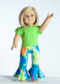 Multi Tie Dye Doll Outfit     Matching Girl Outfit available