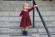 SALE! Wine Twirl Dress - READY TO SHIP