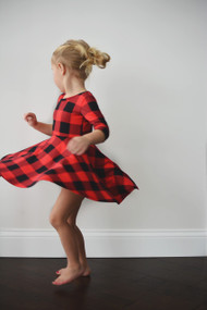 Buffalo Plaid Knit Dress SOLD OUT