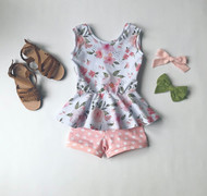 Floral Peplum Set SOLD OUT