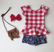 Picnic Peplum Set SOLD OUT