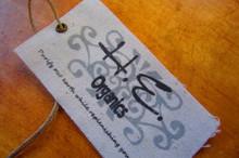 Raw edge cut cotton canvas hangtag