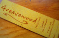 Laser engraved imitation leather label in curry yellow color