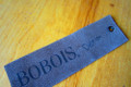 Laser etched imitation leather hangtag