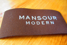 Damask iron on label