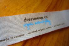 Printed organic cotton tape