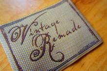 Vintage clothing check woven label