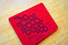 Imitation suede laser etched label