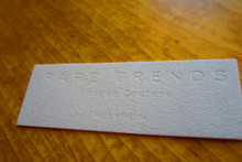 Imitation Suede Embossed Label