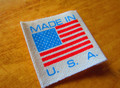 Made in USA Printed Cotton End Fold Clothing Label - 500pcs.