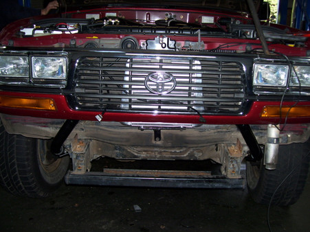 Installing front mount intercooler with bull bar removed