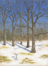 Waiting for Spring - 12x9 giclee' on stretched canvas by George Inslee, unframed
