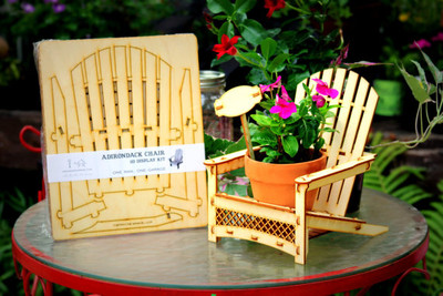 Adirondack Chair, Outdoor Planter, Drink Holder, Beach Buddy, Table Centerpiece, Party Decorations, etc. DIY wood kit you snap together.