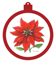 Holiday Poinsettia Ornament