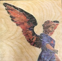 "Randy Purcell ""Angel"" on wood"