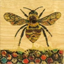 "Randy Purcell ""Bee"" on wood"