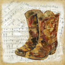 "Randy Purcell ""Boots"" on wood"