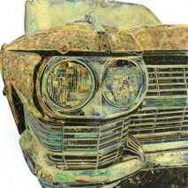 "Randy Purcell ""Caddy"" on wood"
