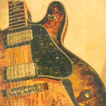 "Randy Purcell ""Guitar"" on wood"